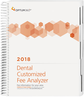 Dental Customized Fee Analyzer 2018 Book Cover