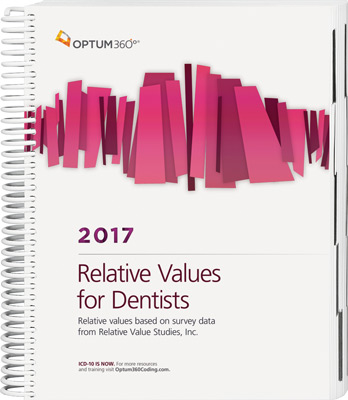 Relative Values for Dentists 2017 Book Cover