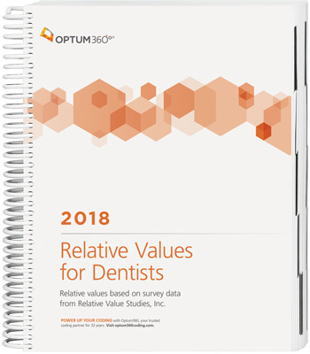 Relative Values for Dentists 2018 Book Cover