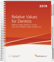 Relative Values for Dentists 2019 Book Cover