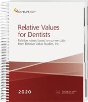 Relative Values for Dentists 2020 Book Cover